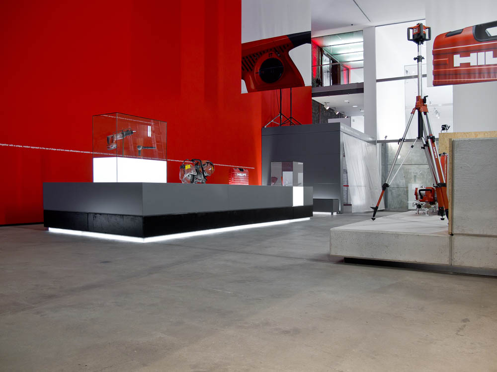 The Hilti Design Mission Statement On The Red Wall Gives An Insight Into  The Aims And Approach Of Hilti Product Design.